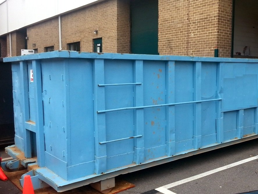 This is a 30yd roll-off dumpster in Springfield VA.